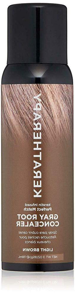 KERATHERAPY Root Concealer, Light Brown, 3 Fl Ounce - BEST D