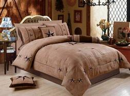 Rustic 7 Piece Luxury Beautiful Embroidery Western Texas Lon