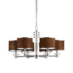 Eurofase 15862-013 Savvy 6-Light Chandelier, Satin Nickel/Br