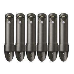 Set of 6 Brown Mini Wireless LED Path Light Stairway Patio L