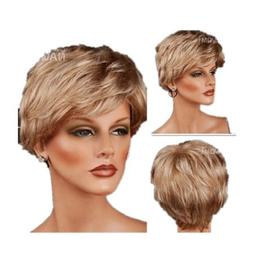 Women's Short Curly Light Brown Wig Party Wig For Women Heat