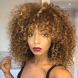 Mildiso Short Wigs for Black Women Afro Curly Wig Kinky Wigs
