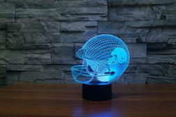 Sport acrylic 3D NFL Cleveland Browns helmet 7 color led tab