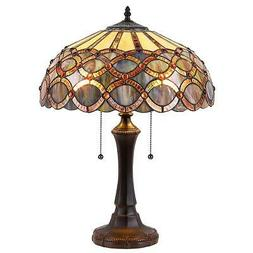 Stained Glass Chloe Lighting 2 Light Table Lamp CH38435GG16-