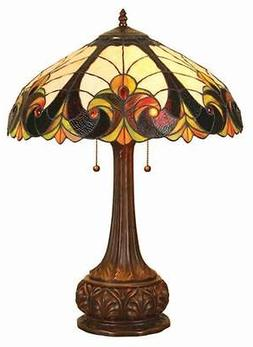Stained Glass Chloe Lighting Victorian 2 Light Table Lamp 18