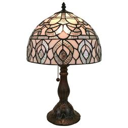 Amora Lighting Table Lamp 19 Inch Tiffany Style Metal Base P