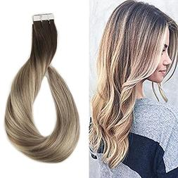 Full Shine 14 inch Tape in Hair Extensions Human Hair Ombre