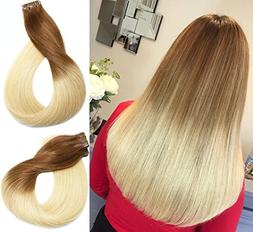 Vario Tape In Human Hair Extensions 7A Ombre Hair Color Medi