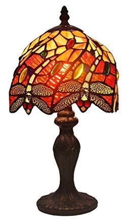 Amora Lighting Tiffany Style AM064TL08 Dragonfly Table Lamp