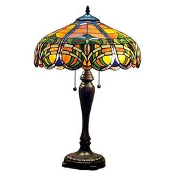 Amora Lighting Tiffany Style AM1071TL16 Baroque Table Lamp,