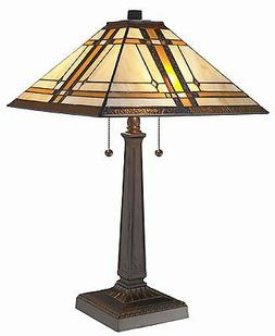 Tiffany Design Mission Table Light Hand Crafted Home Office