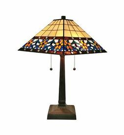 Tiffany Style Floral Mission Table Lamp 23 In High - AM242TL