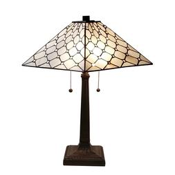 "Amora Lighting Tiffany Style Stained Glass Desk Lamp 14"" AM0"