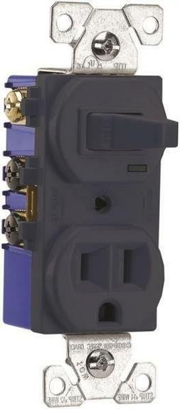 Cooper Wiring TR274B 3-Wire Brown Duplex Receptacle/Toggle R