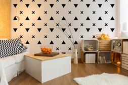 Triangle Wall Decal, Urban Wall Decor, Triangle Decals, Mode