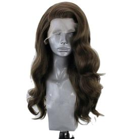 US 24inch Synthetic hair Lace front wigs Full Head Long Wavy