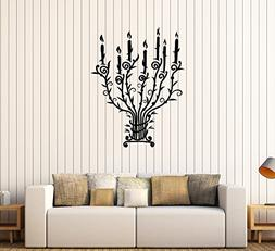 Vinyl Wall Stickers Candle Candlestick Vintage Chandelier Br