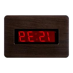 KWANWA LED Wall Clock with 1.4'' Large Red LED Numbers Displ