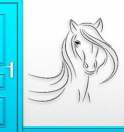 Wall Sticker Vinyl Decal Beautiful Horse Animal Abstract Roo
