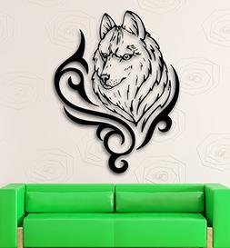 Wall Sticker Vinyl Decal Wolf Animal Tribal Cool Room Decor