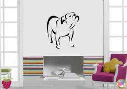 wall stickers dog bulldog pet