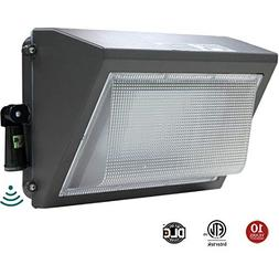 LED Wall Pack 100W, Adjustable Dusk-to-Dawn Photocell, 300-4