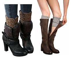 Women Winter Leg Warmer Cozy Soft Crochet Knit Boots Cuffs b