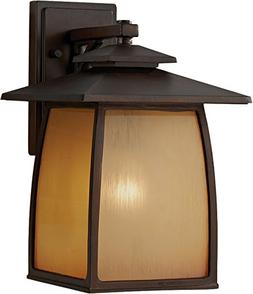 Wright House 14 One Light Outdoor Lantern in Sorrel Brown